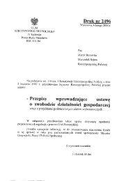druk nr 2496 - Sejm Rzeczypospolitej Polskiej