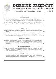 Dz.Urz. MON nr 6 z 26.04.2010 r. - Biuletyn Informacji Publicznej ...
