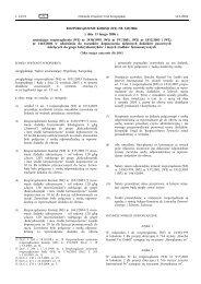 ROZPORZĄDZENIE KOMISJI (WE) NR 249/2006 z dnia ... - EUR-Lex