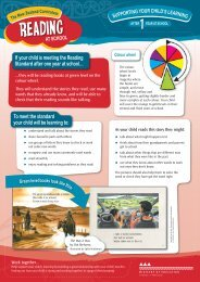 Supporting your child's learning: After 1 year at school (warning ...