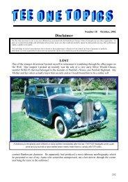 October 2002 - Rolls-Royce Owners' Club of Australia (Victoria ...