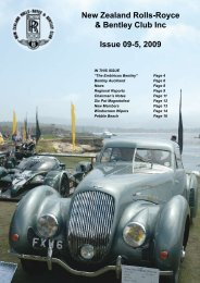 New Zealand Rolls-Royce & Bentley Club Inc Issue 09-5, 2009