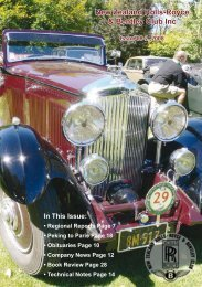 New Zealand Rolls-Royce & Bentley Club Inc - KDA132