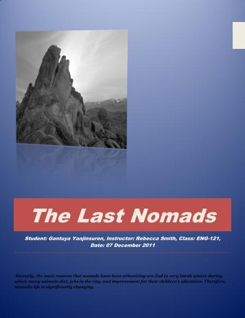 The Last Nomads