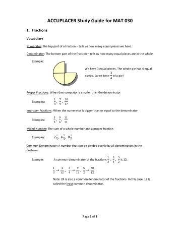 accuplacer secrets study guide pdf