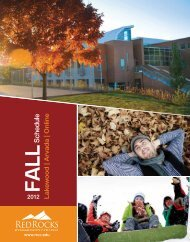 Fall - Red Rocks Community College