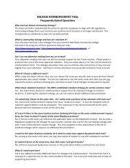 MILEAGE REIMBURSEMENT FAQs - Red Rocks Community College