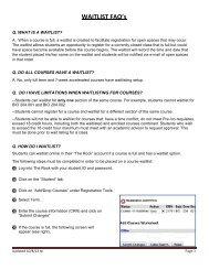 WAITLIST FAQ's