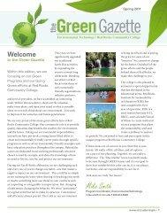 GreenGazette - Red Rocks Community College