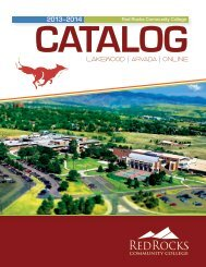 View/Download 2013-2014 Catalog - Red Rocks Community College