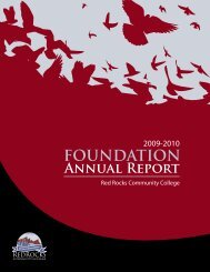 2009-2010 FOUNDATION Annual Report - Red Rocks Community ...