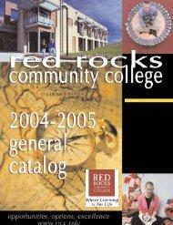 Certificate - Red Rocks Community College