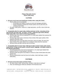 to see the dress code for the RRCC Fitness Education Center