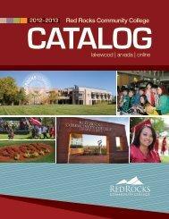 2012-2013 - Red Rocks Community College