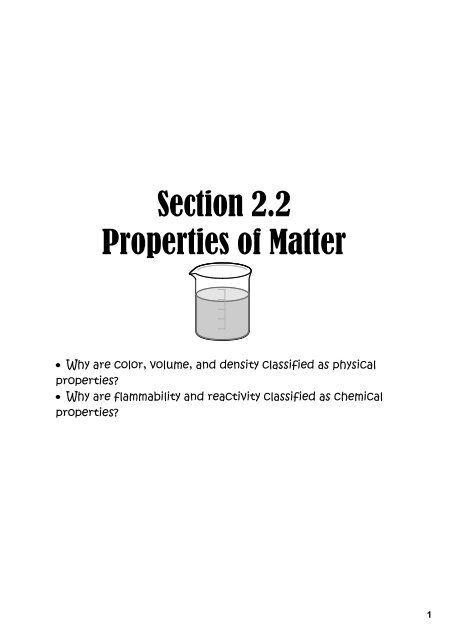 section 2 properties of matter