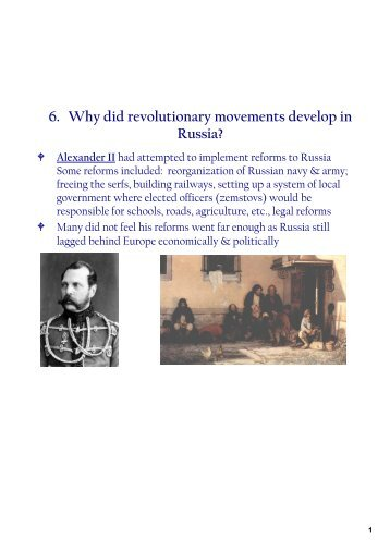 revolutionary movements in russia essay These were the long term causes of the russian revolution, the factors which eroded the tsarist government in the run up to 1917  movement in russia during the.