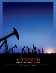 goodrich petroleum corporation - RR DONNELLEY FINANCIAL