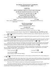 2008 Form 10-K MFBI (EXTERNAL) - RR DONNELLEY FINANCIAL