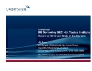 III. State of the MarketsClick Link to Download - RR Donnelley