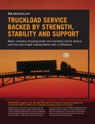 Full TruckloadClick Link to Download - RR Donnelley