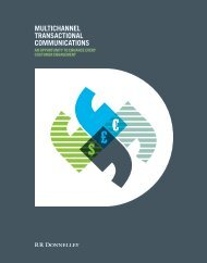 multichannel transactional communications - RR Donnelley