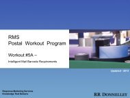 RMS Postal Workout Program Workout #5 - Barcodes - RR Donnelley