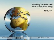 Preparing For Your First XBRL Concurrent Filing ... - RR Donnelley