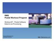 RMS Postal Workout Program - RR Donnelley