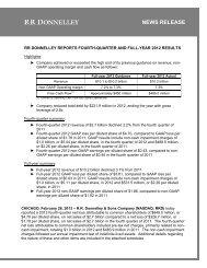 Q4 12 Press Release Schedules - FINAL 022513.xlsx - RR Donnelley