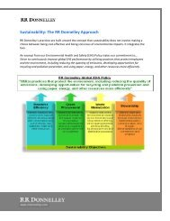 Sustainability: The RR Donnelley Approach