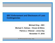 III. SEC enforcement, audit response letters and ... - RR Donnelley