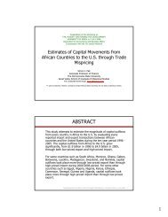 Estimates of Capital Movements from African Countries to the U.S. ...