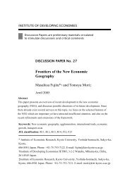 Frontiers of the New Economic Geography - ResearchGate