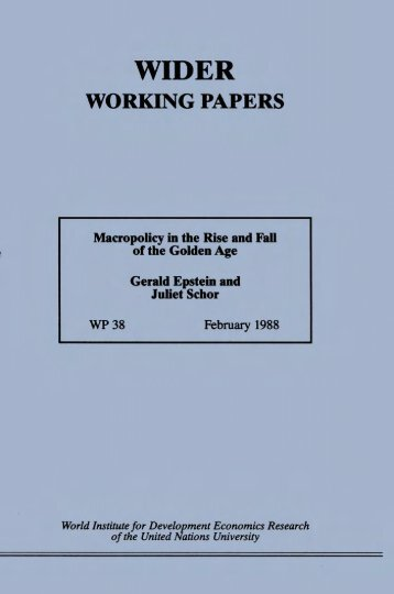 macropolicy in the rise and fall of the golden age - The Róbinson ...