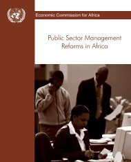 Public Sector Management Reforms in Africa: Lessons Learned