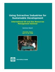 Using Extractive Industries for Sustainable Development