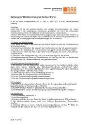 Satzung - Rentnerinnen- und Rentner Partei (RRP)