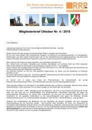 Mitgliederbrief Oktober Nr. 4 / 2010 - Rentnerinnen- und Rentner ...