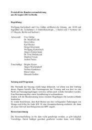 Protokoll BV Sitzung 20.08.2011 - Rentnerinnen- und Rentner Partei ...