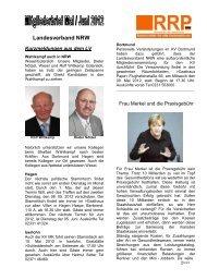 Landesverband NRW - Rentnerinnen- und Rentner Partei (RRP)