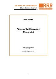 RRP Politik Gesundheitswesen - Rentnerinnen- und Rentner Partei ...