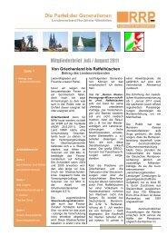Mitgliederbrief Juli / August 2011 - Rentnerinnen- und Rentner ...