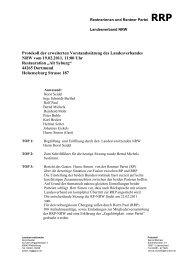 Protokoll LV Sitzung 19.02.2011 - Rentnerinnen- und Rentner Partei ...