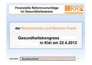 22.04.2012 - Rentnerinnen- und Rentner Partei (RRP)