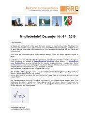 Mitgliederbrief Dezember Nr. 6 / 2010 - Rentnerinnen- und Rentner ...
