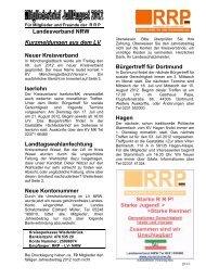 Landesverband NRW Kurzmeldungen aus dem LV Neuer ...