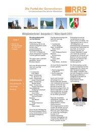 Mitgliederbrief Ausgabe 2 / März/April 2011 - Rentnerinnen- und ...