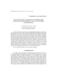 analysis of the land surface temperature estimated from different ...