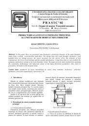 design of main kinematic chain from a cutting wood machine