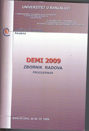 ZBORNIK RADOVA PRocEEDlNGs